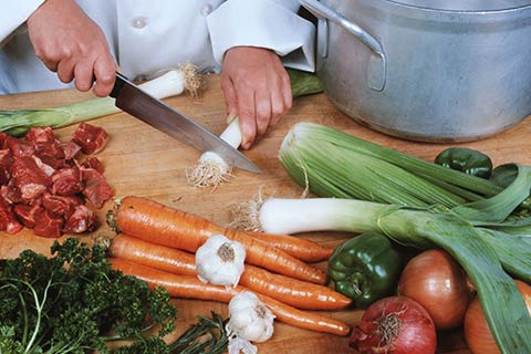 frisch zubereitet Gastronomie
